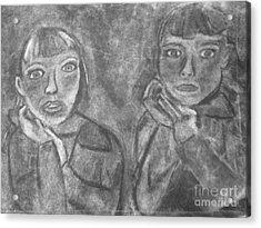 Sisters Acrylic Print by Khristin Kelly