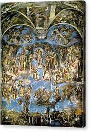Sistine Chapel. The Last Judgement Acrylic Print