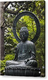 Sitting Buddha Acrylic Print by Adam Romanowicz