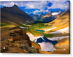 Acrylic Print featuring the photograph Siyeh Pass by Aaron Whittemore