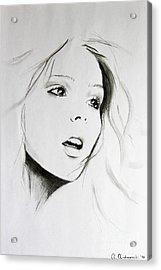Sketch Of Beauty Acrylic Print by Anna Androsovski