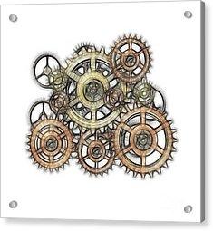 Sketch Of Machinery Acrylic Print by Michal Boubin