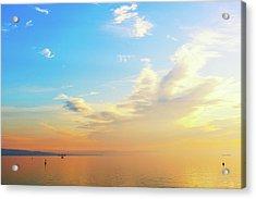Sky And Sea At Sunset Acrylic Print