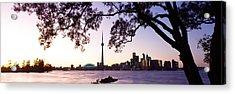 Skyline Cn Tower Skydome Toronto Acrylic Print by Panoramic Images