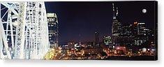 Skylines And Shelby Street Bridge Acrylic Print