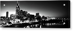 Skylines At Night Along Cumberland Acrylic Print by Panoramic Images