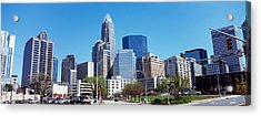 Skyscrapers In A City, Charlotte Acrylic Print