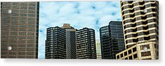 Skyscrapers In A City, Hyatt Regency Acrylic Print by Panoramic Images