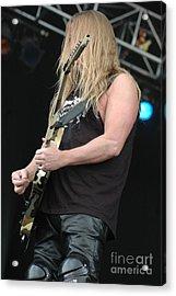 Slayer- Jeff Hanneman Acrylic Print by Jenny Potter