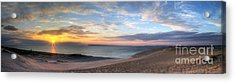 Sleeping Bear Dunes Sunset Panorama Acrylic Print by Twenty Two North Photography