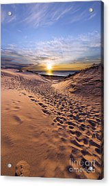 Sleeping Bear Dunes Sunset Acrylic Print by Twenty Two North Photography