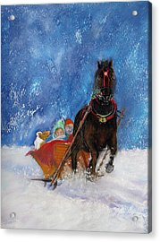 Sleigh Ride Acrylic Print by Loretta Luglio
