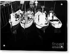 small fishing boats in bunbeg harbour county Donegal Republic of Ireland Acrylic Print by Joe Fox