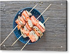 Smoked Salmon And Grilled Artichoke Acrylic Print