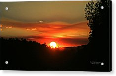 Smokin' Payson Sunset Acrylic Print
