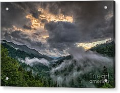 Smoky Sunset Acrylic Print