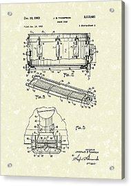 Snare Drum 1963 Patent Art Acrylic Print