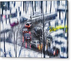 Snow Fall Acrylic Print