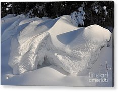 Snow Acrylic Print by Sylvie Leandre