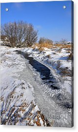 Snowy Landscape Acrylic Print by Sylvie Leandre