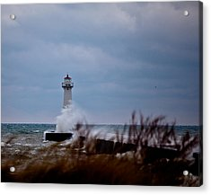 Acrylic Print featuring the photograph Sodus Point Lighthouse by Chris Babcock
