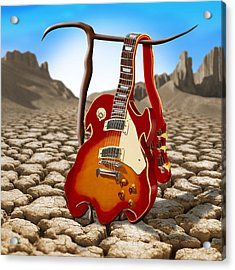 Soft Guitar II Acrylic Print by Mike McGlothlen