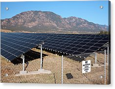 Solar Array On Landfill Site Acrylic Print