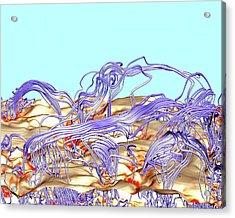 Solar Magnetism Simulation Acrylic Print by Nasa/ames (irina Kitiashvili, Stanford University; Tim Sandstrom)