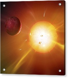 Solar System Formation, Artwork Acrylic Print by Science Photo Library