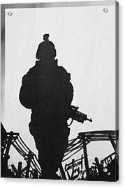 Soldier Acrylic Print by David Cohen
