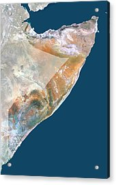 Somalia Acrylic Print by Planetobserver/science Photo Library