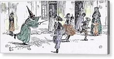 Some Dresses At The Childrens Carnival In 1892 Fancy Dress Acrylic Print by English School