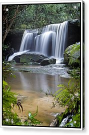 Somersby Falls Acrylic Print by Steve Caldwell
