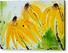 Sonnenhut -  Floral Painting  Acrylic Print by Ismeta Gruenwald