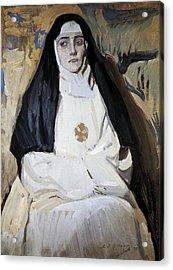 Sorolla, Joaqu�n 1863-1923. A Nun Acrylic Print by Everett