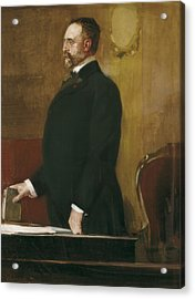Sorolla, Joaquín 1863-1923. Portrait Acrylic Print by Everett