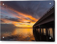 Acrylic Print featuring the photograph Soundside Sunset by Gregg Southard