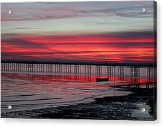 Southend Pier Sunset Acrylic Print