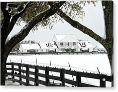 Southfork Ranch In Winter Acrylic Print