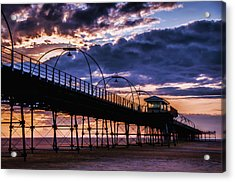 Southport Pier At Sunset Acrylic Print