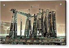 Spaceport Acrylic Print by Bernard MICHEL