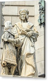 Spain, Barcelona, Christopher Columbus Acrylic Print by Jim Engelbrecht