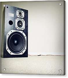 Speaker Acrylic Print by Les Cunliffe