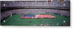 Spectator Watching A Football Match Acrylic Print by Panoramic Images