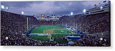 Spectators Watching Baseball Match, Los Acrylic Print by Panoramic Images