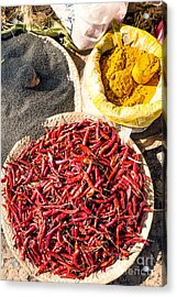 Spices At Local Market - Myanmar Acrylic Print