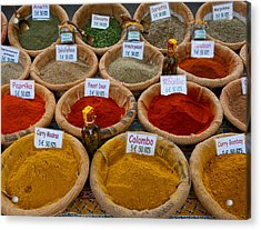 Spices For Sale In A Weekly Market Acrylic Print