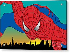 Spiderman  Acrylic Print by Mark Ashkenazi