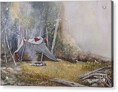 Spike Camp Acrylic Print by Lynne Parker