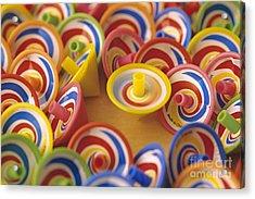 Spinning Tops Acrylic Print by Jim Corwin